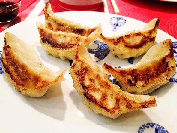 Crispy dumpling goodness