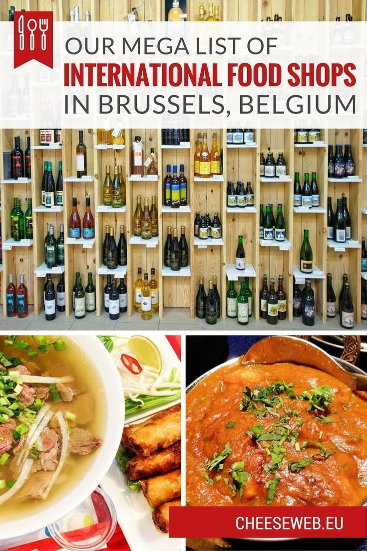Our mega list of international food shops in Brussels, Belgium for all your favourite ingredients from around the world