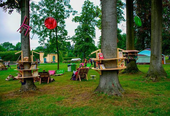 A reading nook in the trees