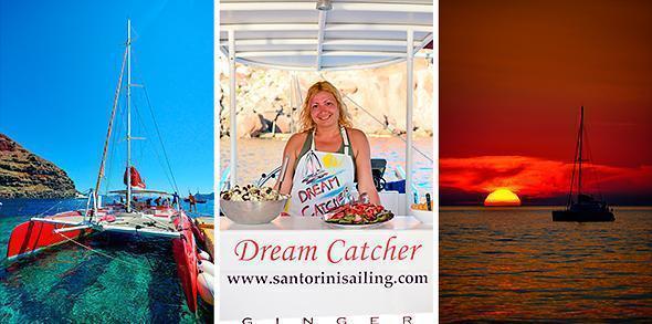 Set sail on the Dream Catcher with Santorini Sailing