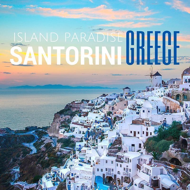 Island Paradise in Santorini, Greece