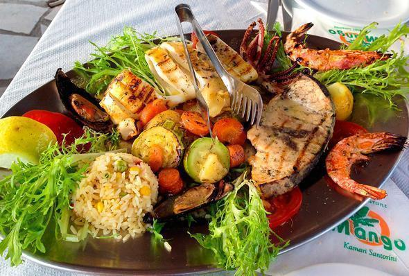 Seafood Platter for two at the Mango Cafe