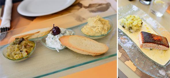 Fresh and delicious food at Terpsi Restaurant, Santorini