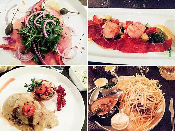 Our meal at Brasserie Basilik was tasty and very filling
