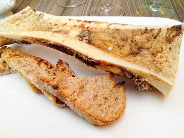 Andrew's bone marrow and country bread
