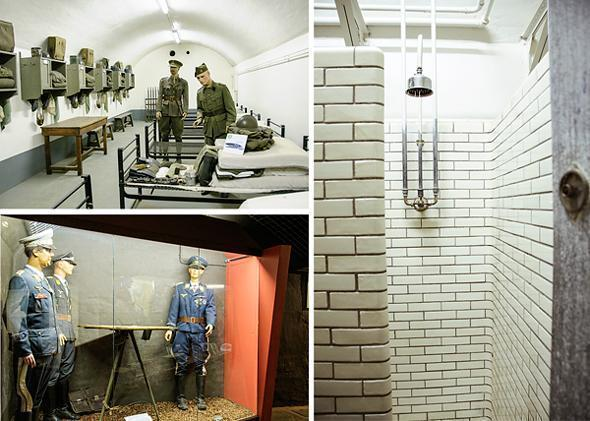 Museum-style exhibits demonstrate what life was like for the soldiers at Fort Eben-Emael