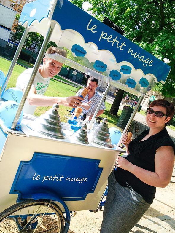 Pedal-powered organic ice-cream from Le Petit Nuage.