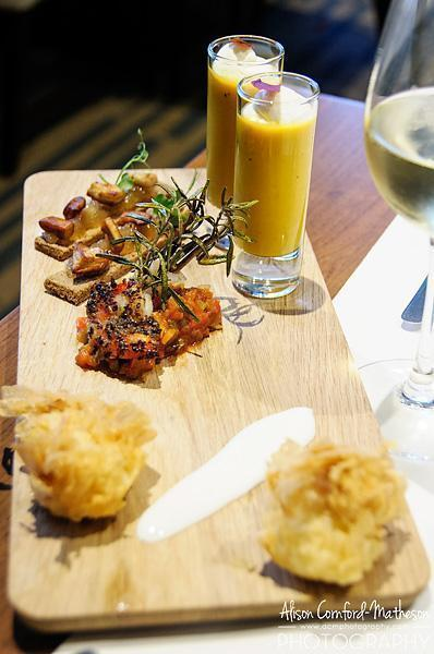 A selection of nibbles at Willards Restaurant in Brussels