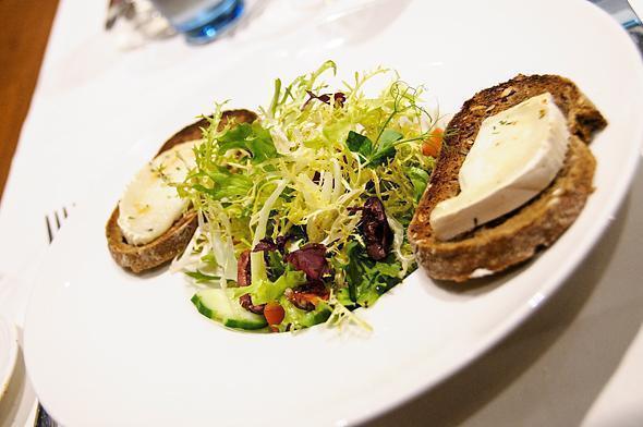 My fresh and cheesy salad at Willards Restaurant