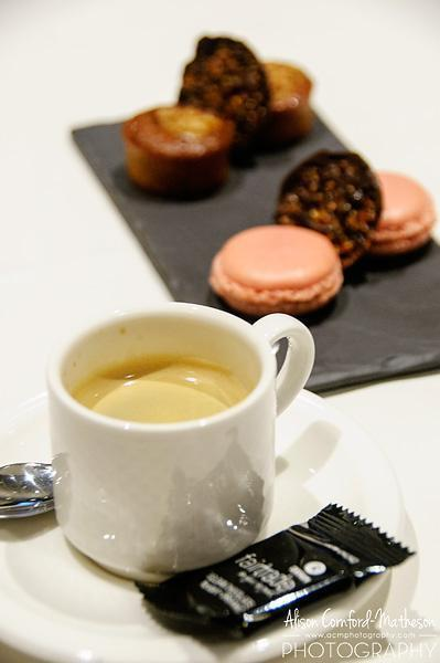 Coffee and sweet treats to round out my meal at Willards Restaurant