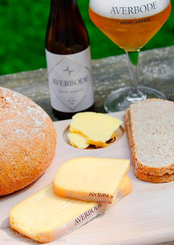 Bread and cheese made at Averbode Abbey make the perfect picnic lunch