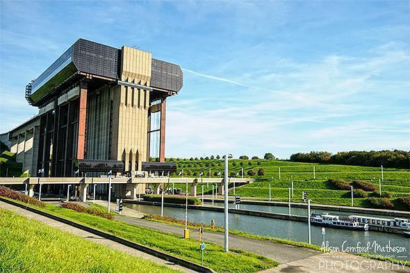 The Strépy-Thieu boat lift is an impressive structure on the Belgian skyline.