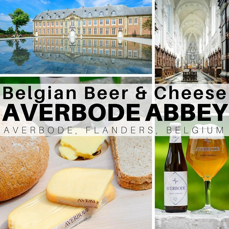 Belgian Beer and cheese at Averbode Abbey in Flanders, Belgium