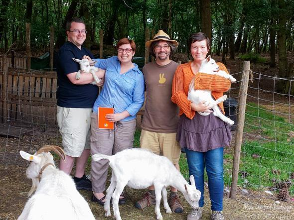 Good friends and baby goats... What more could we ask for?