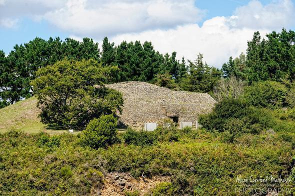 A burial mound on a small island in the Gulf of Morbihan
