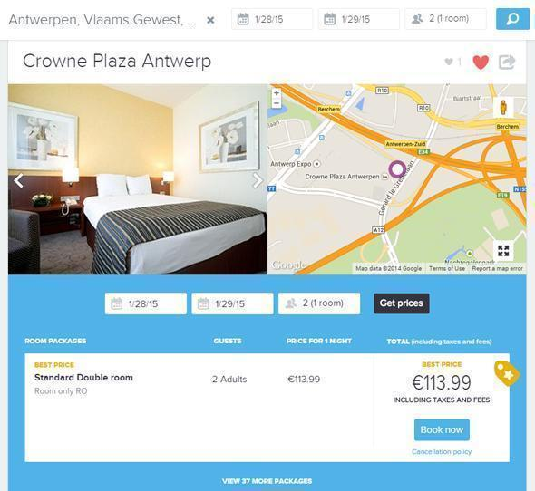 Here's the Yonderbound price for the Crowne Plaza in Antwerp.