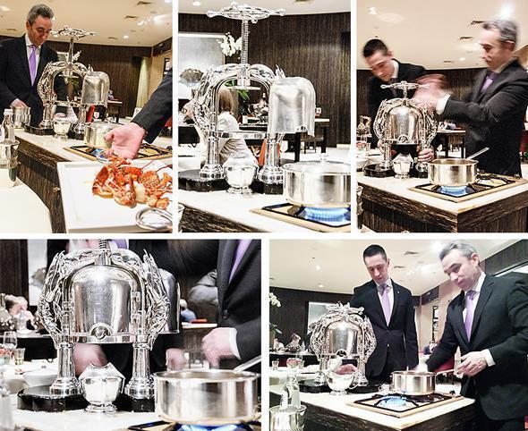 The veritable Christofle lobster press at Sea Grill restaurant