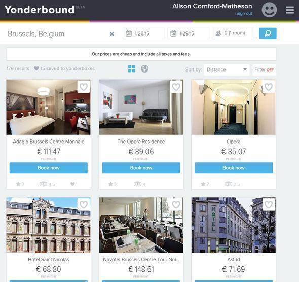 A Pinterest-y vibe for hotel booking