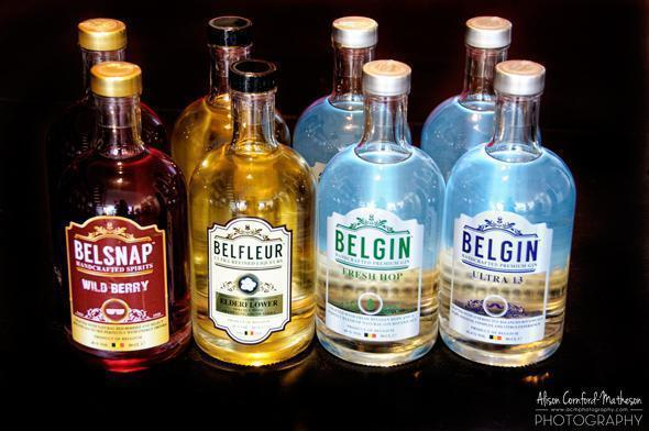 Belgin's colourful array of Belgian gins and liqueurs