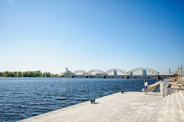 Riga's Daugava River Waterfront