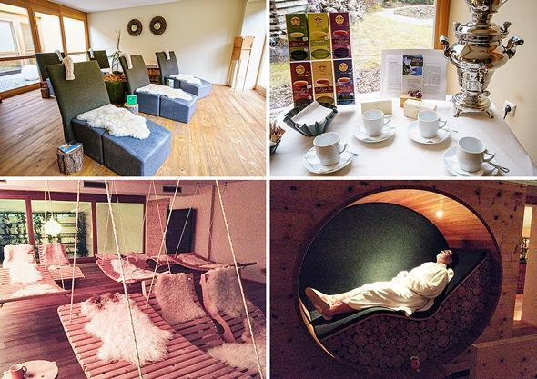 There are plenty of places to relax at the Arosea spa