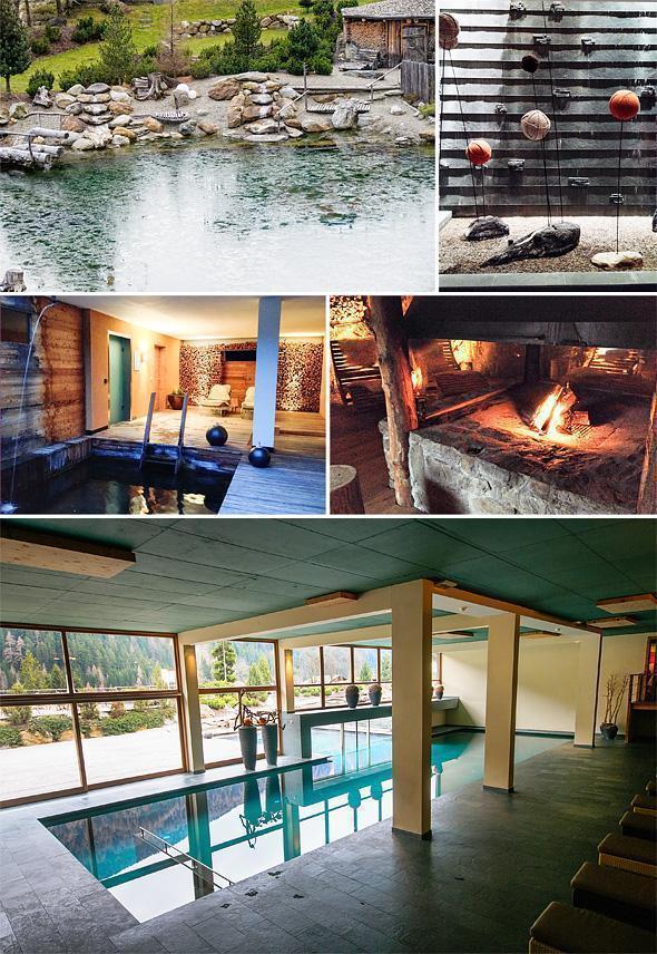 Arosea's spa facilities make use of the natural surroundings