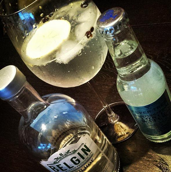 Belgin Fresh Hop with Fever Tree tonic