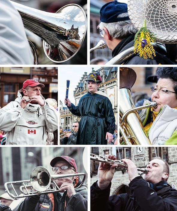 You can't have a festival without music and in Binche there is plenty