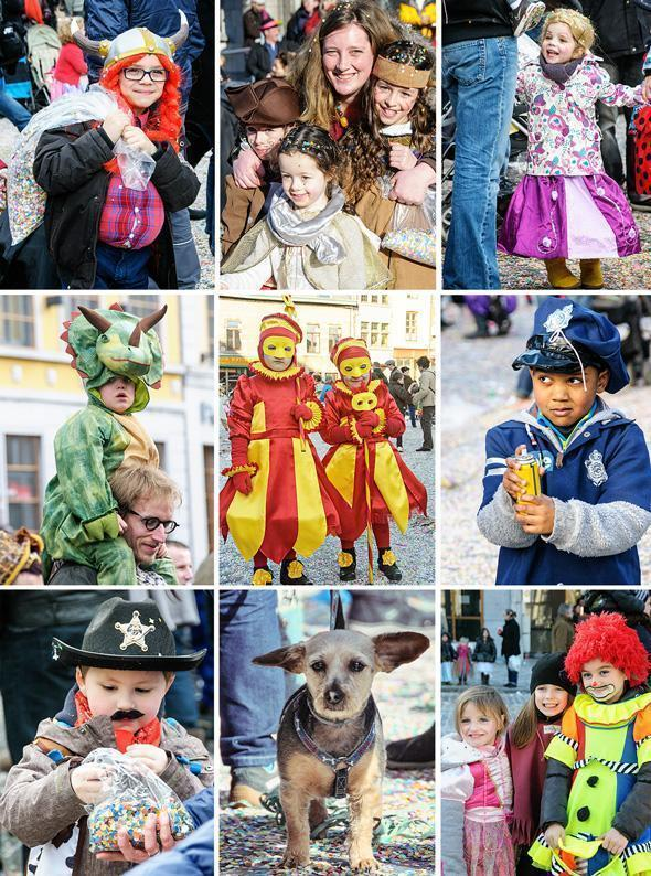 Family day at the Binche Carnival means fun for all ages