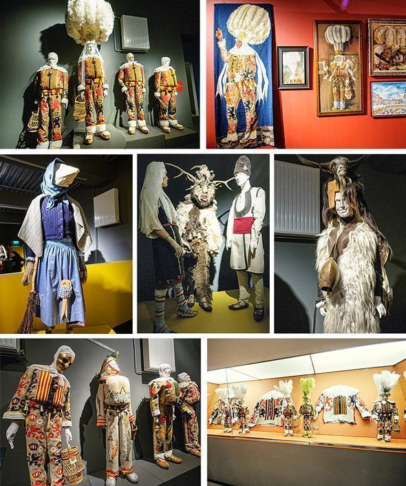 The Mask Museum exhibits Carnival costumes from around the world