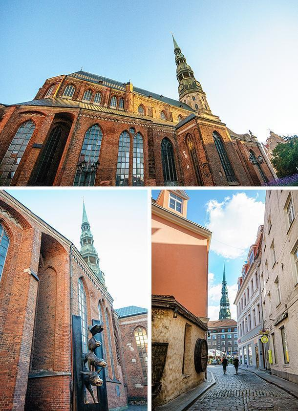 You can spot the distinctive spire of St. Peter's Church throughout the Old Town.