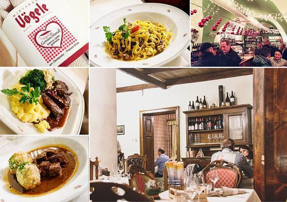 Traditional Soth Tyrolean cuisine at Restaurant Vogele, Bolzano