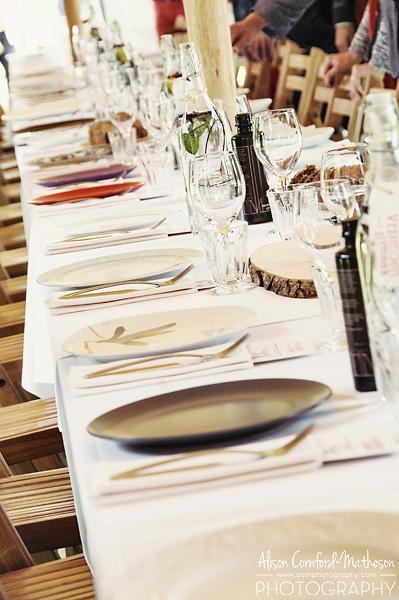 Colourful mismatched plates add to the Vrienden van de Smaak atmosphere