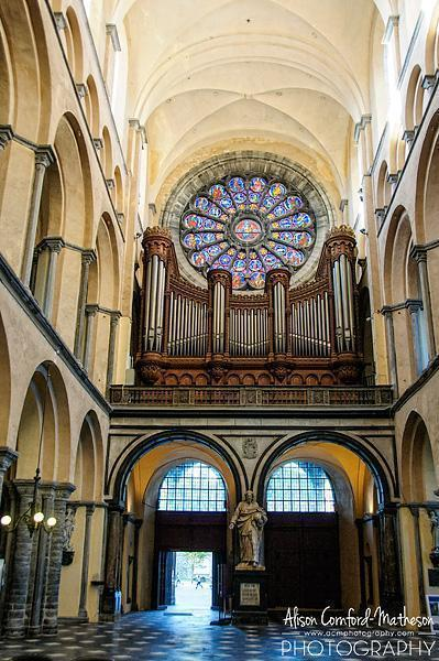 The only part of Tournai Cathedral still on display is a small chapel