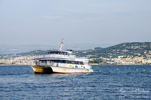 Our ride to Ile Sainte Marguerite was not quite as glamourous as some of the boats in Cannes harbour