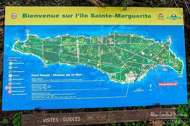 Ile Sainte-Marguerite is only 3km long but has more than 20km of walking trails.