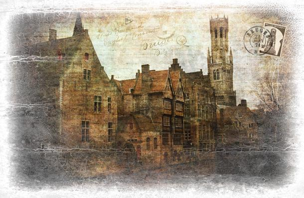Bruges looks much the same today as it did 100 years ago.
