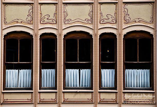 The distinctive windows of Hôtel van Eetvelde
