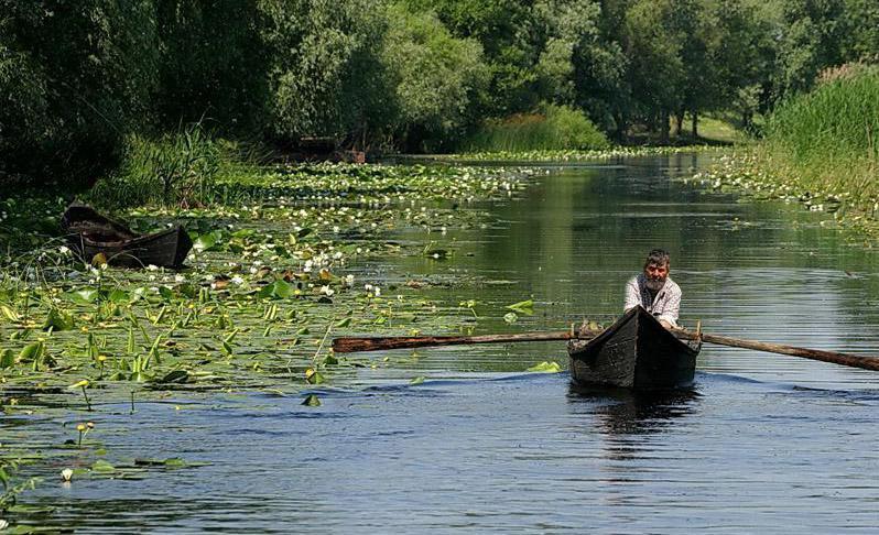 A lipovan fisherman in the Danube's delta, Romania