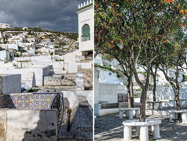 The Tetouan Cemetery is as colourful and erratic as the Medina.