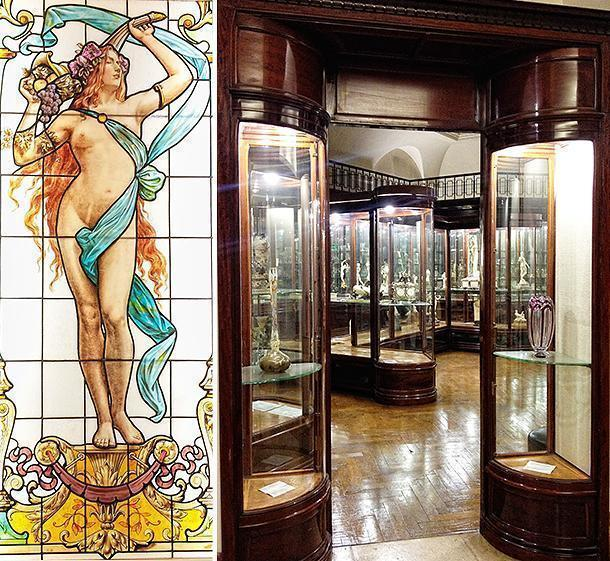 The hidden away Art Nouveau room in the Cinquantenaire Museum