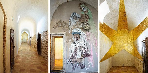 Fort Royal's prison cells are now an unusual art gallery