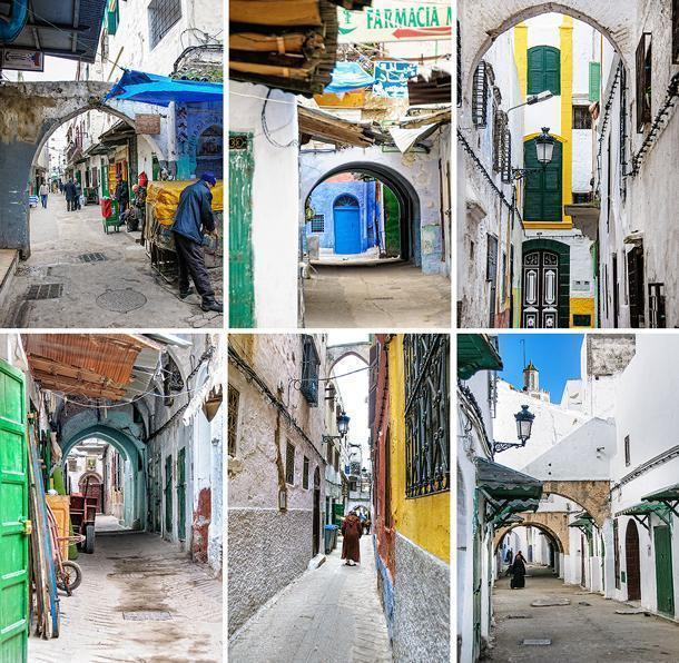 Alleys and arches make up the Tetouan Medina