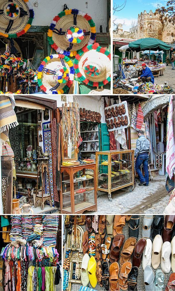 Handmade items for sale in the Tetouan Medina