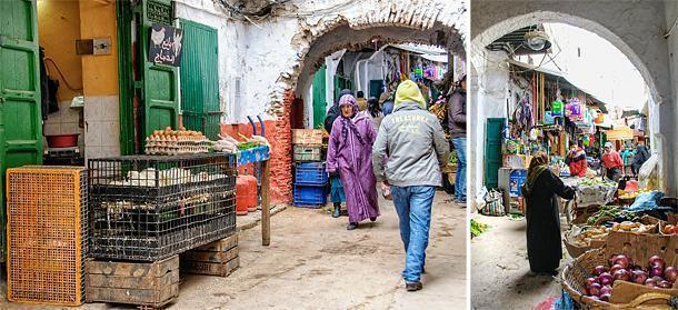 It doesn't get fresher than the produce sold in the Medina