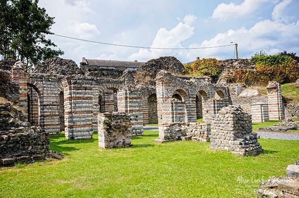 Roman ruins in Bavay, Nord-Pas-de-Calais, France