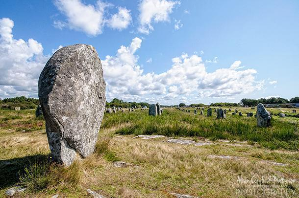 The Carnac Alignments in Brittany, France