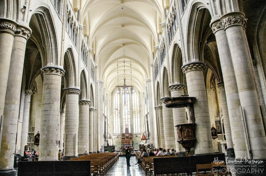 Inside the Basilica of Our Lady in Tongeren