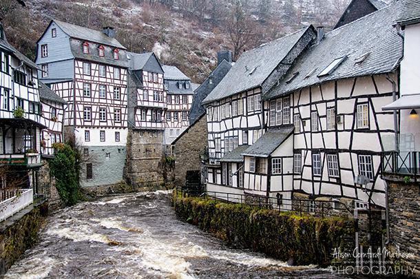 Pretty Monchau, in North-Rhine-Westphailia, Germany