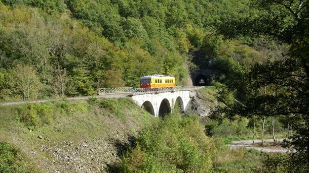 1952 diesel railcar on the Bocq railway.